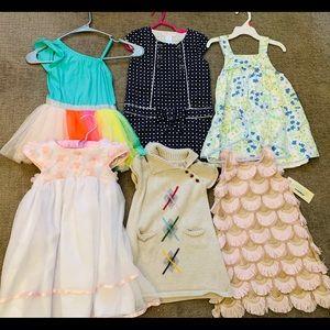 Girls dress Lot Janie & jack Cat & Jack 2T